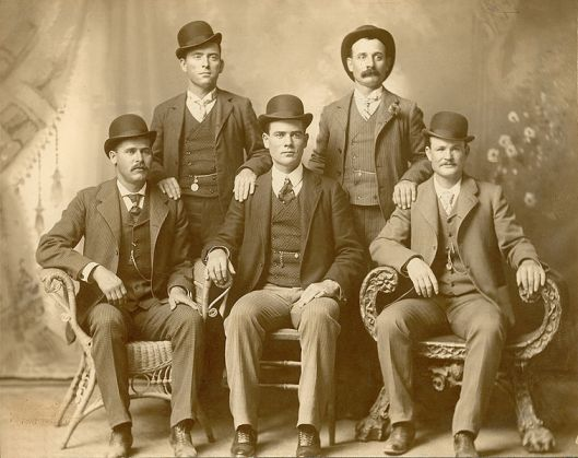 The real Wild Bunch gang - Sundance (front row bottom left) and Butch (front row bottom right)