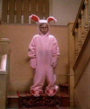 christmas story - ralphie in bunny suit