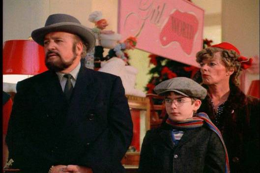 Shepherd's cameo from the film - a father waiting in line with his son to meet Santa.