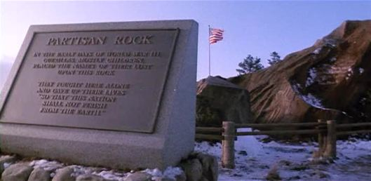 Partisan Rock: In the early days of WWIII, guerrillas, mostly children placed the names of their lost upon this rock...