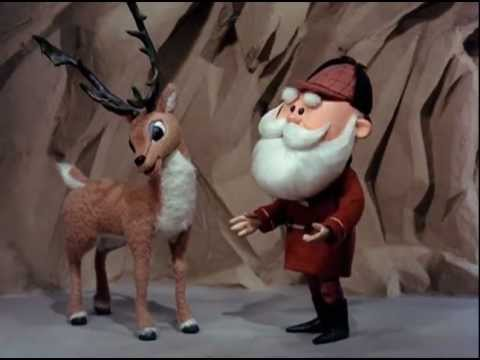 Donner and Santa discussing Rudolph's shortcomings.