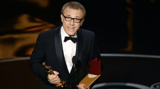 Christoph Waltz after winning perhaps the tightest race for an Oscar in quite some time.