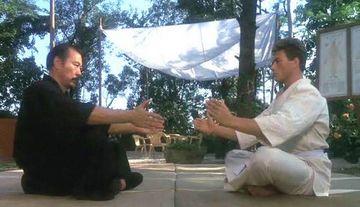 Dux training with shidoshi Senzo Tanaka.