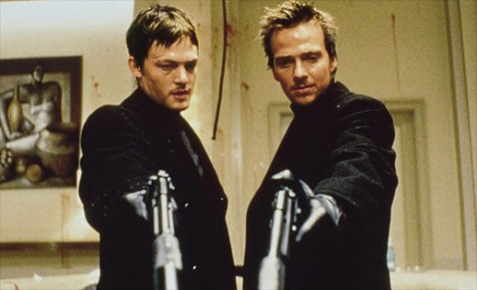 The Brothers McManus from The Boondock Saints - Murphy (Norman Reedus) and Connor (Sean Patrick Flannery)