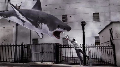 Shark vs. chainsaw...looks interesting.
