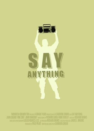 say anything - poster