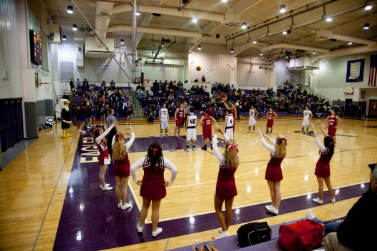 Game action vs. Lanesville Eagles