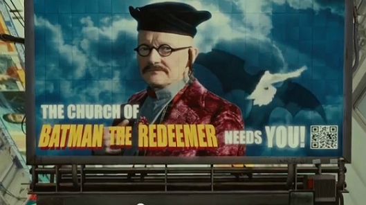 Robin Williams pimping the Church of Batman the Redeemer.