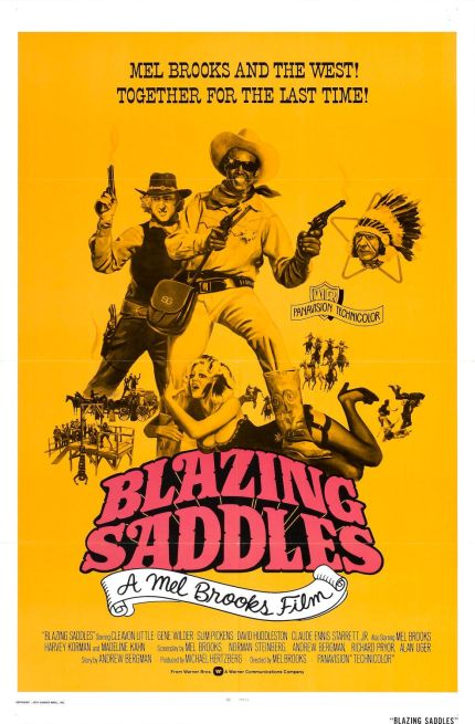 blazing saddles - poster
