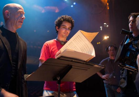 whiplash - chazelle on set
